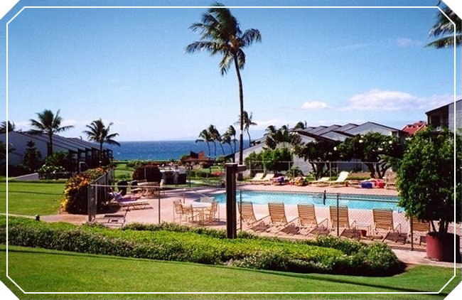 Pool and Ocean View at Hale Kamaole Condo
